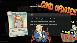 New Fireproof card Build || max absorption? || fallout 76