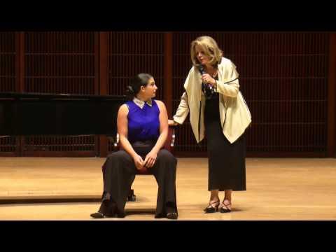 RENEE FLEMING Shepherd School Master Class - Allegra De Vita, mezzo-soprano