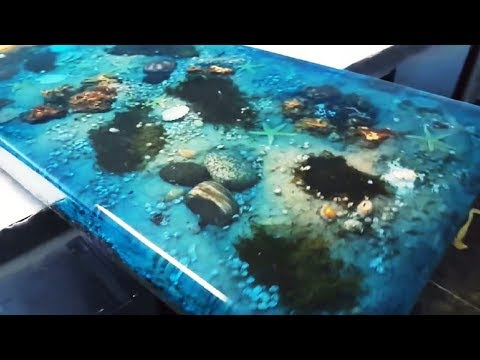 5 Most Amazing Epoxy Resin and Wood Ocean Table – Latest Awesome DIY Woodworking Projects