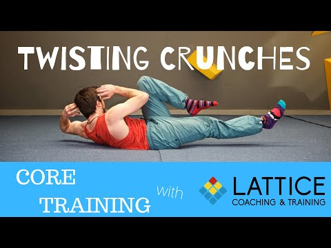 Core Training: Twisting Crunch   Lattice Training