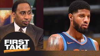 Stephen A.: Paul George is better off with Lonzo Ball than Russell Westbrook | First Take | ESPN