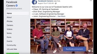 Producing Facebook Careers Live with Varvid and Datavideo