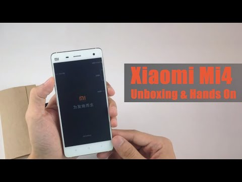 Xiaomi Mi4 16GB White Unboxing & Hands On