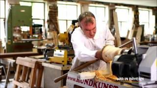 Rundkunst - hauchdünne Holzlampen drechseln, TV Bericht im BR