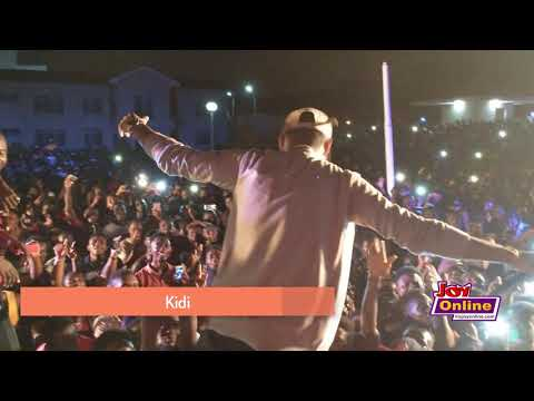 Kidi performs at the Joy FM Open House Party at UPSA