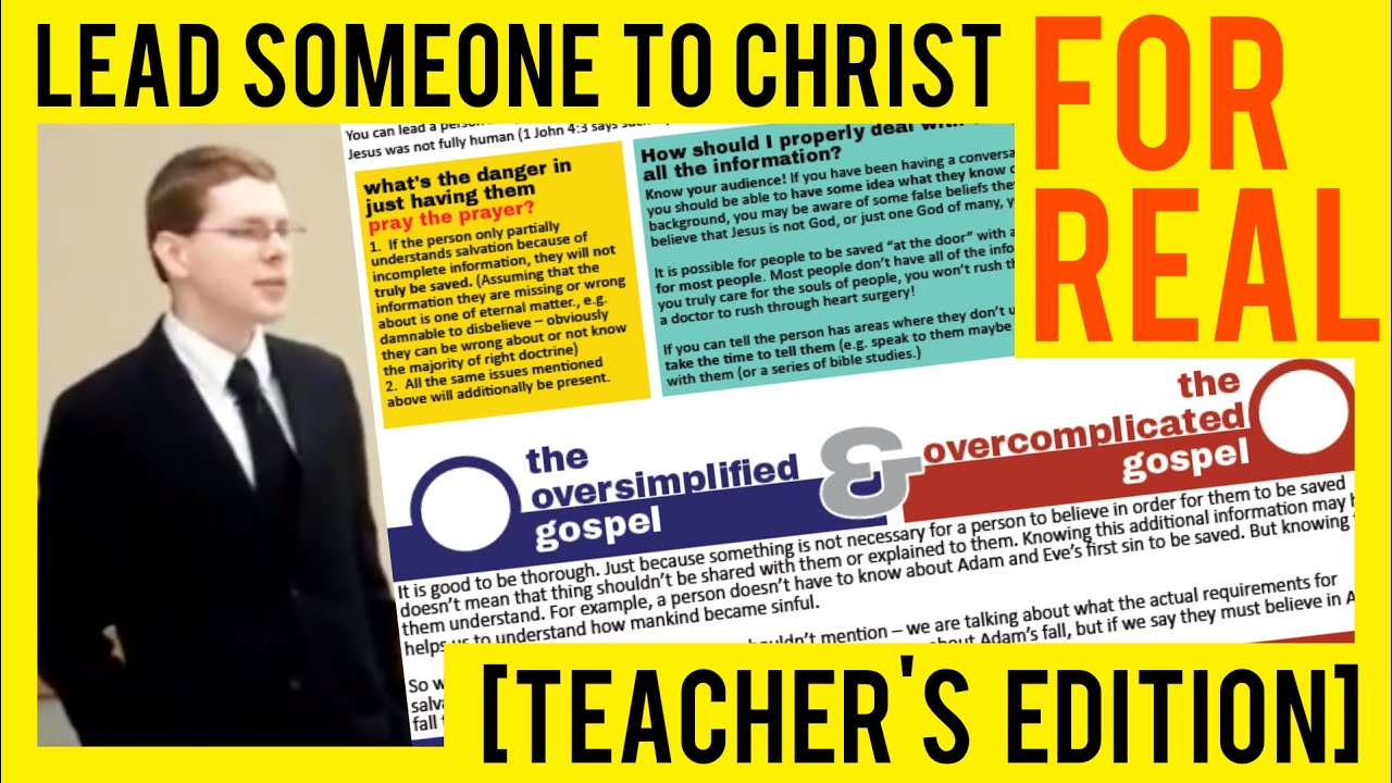 Teacher's Edition: Lead Someone to Christ For Real