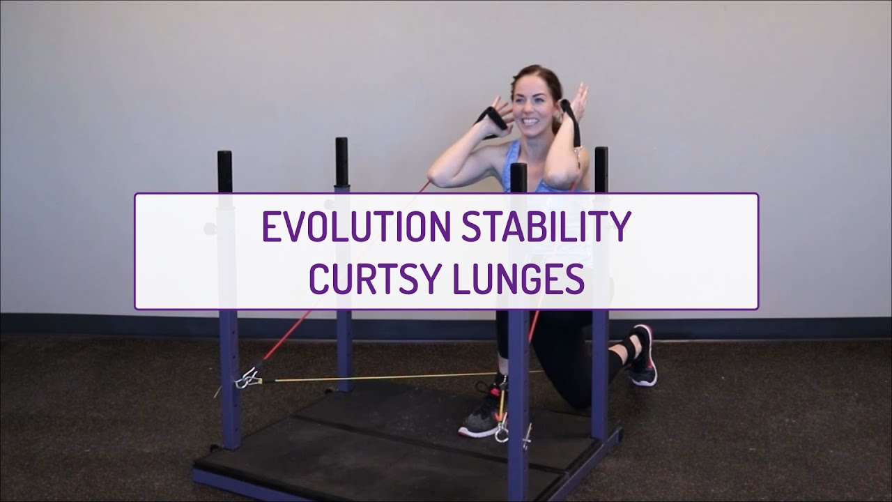 Evolution Stability Curtsy Lunges