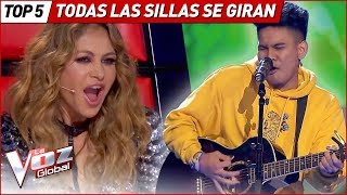 The BEST TALENTS made ALL CHAIRS TURN in La Voz