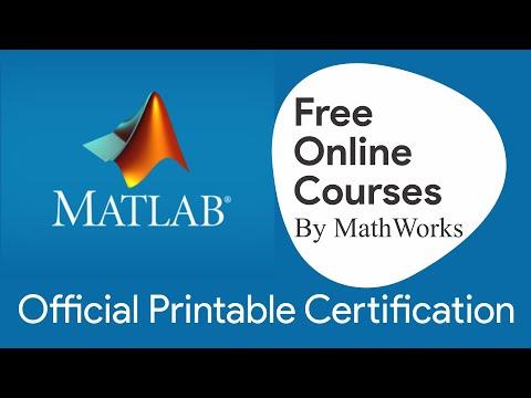 MATLAB Original Printable Certification Free Course | Flexible Certificate | Online Matlab Tutorial