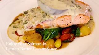 Salmon  I  Lemon Butter Cream Sauce