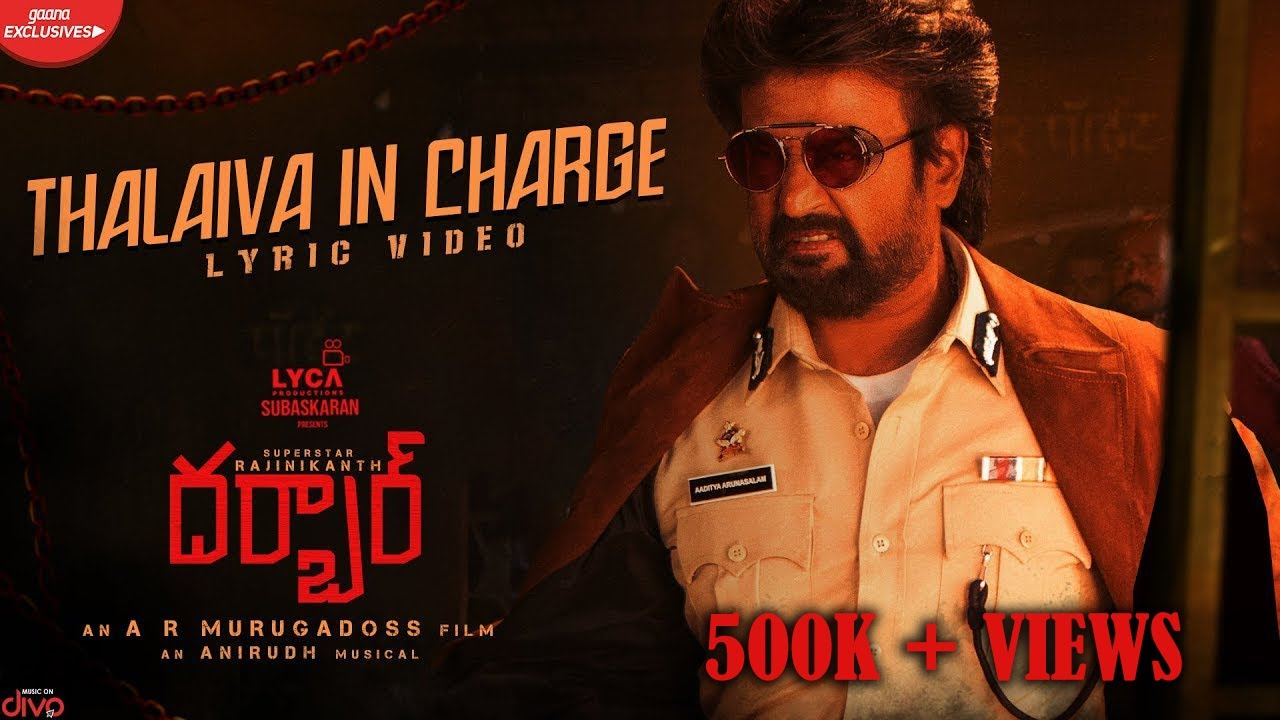Thalaiva In Charge Lyrical song from Darbar