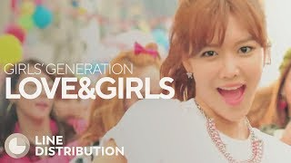 GIRLS' GENERATION - LOVE&GIRLS (Line Distribution)