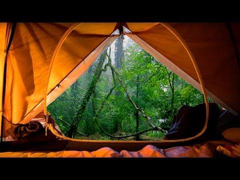 10 Stunden REGEN GERÄUSCHE AUF EINEM ZELT ★ Einschlafen und entspannen mit NATURGERÄUSCHE