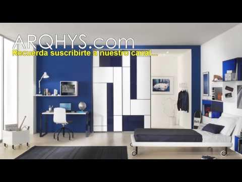 Dormitorios modernos para jovenes. Habitaciones y cuartos para adolescentes