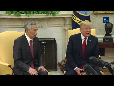 President Trump Meets with Prime Minister Lee Hsien Loong