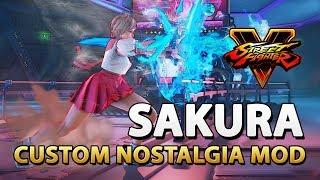 Custom Sakura Nostalgia (C7) - Street Fighter V - KrizmKazm Mod