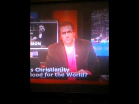 Crowley calls into Christian Television