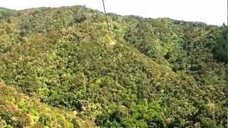 preview picture of video 'Riding the Skywire - Happy Valley near Nelson, New Zealand'