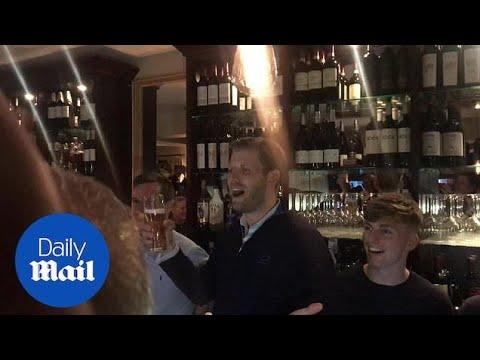 Eric and Donald Trump Jr pour pints at Irish pub in Doonbeg