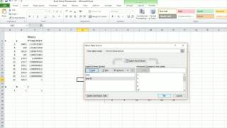 Solver In Excel For Non-Linear Fit Plotting