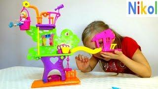 ДОМИК НА ДЕРЕВЕ  polly pocket tree house wall party unboxing New Toys