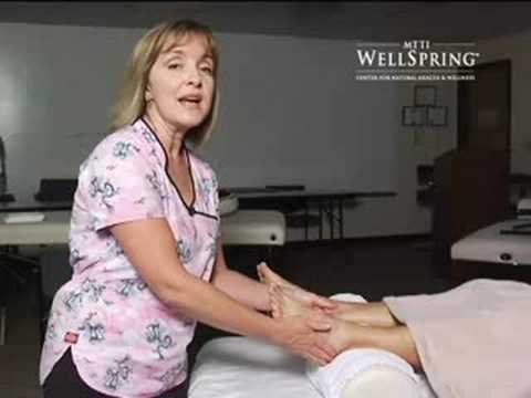 0 Foot massage A reflexology demonstration