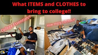 What ITEMS And CLOTHES To Bring For College!