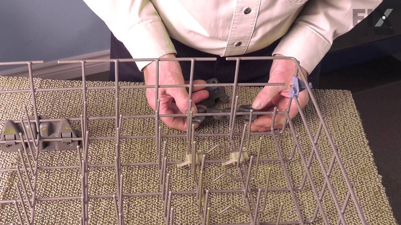 Replacing your KitchenAid Dishwasher Dishwasher Lower Dishrack Wheel Assembly - Gray