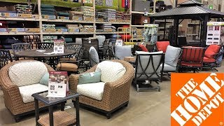 HOME DEPOT OUTDOOR PATIO FURNITURE SUMMER HOME DECOR SHOP WITH ME SHOPPING STORE WALK THROUGH 4K