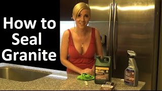 How To Seal Your Granite And Marble Countertops
