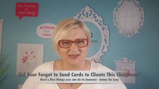 What To Do If You Didn't Send Christmas Cards To Your Clients