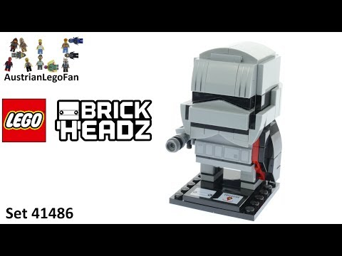 Vidéo LEGO BrickHeadz 41486 : Capitaine Phasma
