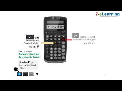 Potenzen am Taschenrechner berechnen