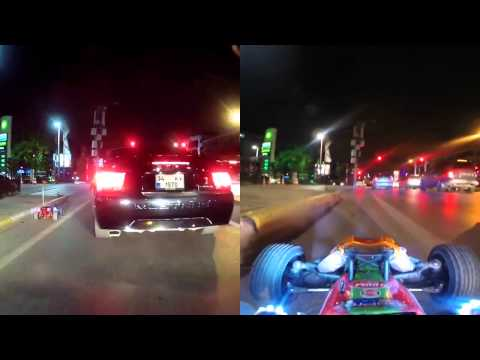 AMAZING : RC CAR ON PUBLIC ROAD ! STEREO SOUND