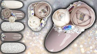 CANDY BALL / BUBBLE ROSE NAIL ART TUTORIAL - Bubble Flowers Rose Ball Gel Nails