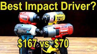 Best Impact Driver? DeWalt vs Milwaukee vs Makita vs Bauer!  Let's find out!