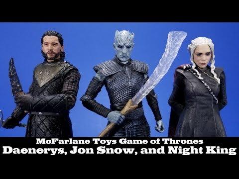 Game of Thrones Jon Snow, Daenerys Targaryen, and Night King McFarlane Toys Action Figure Review