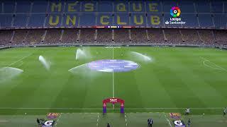 Calentamiento FC Barcelona vs RCD Espanyol de Barcelona