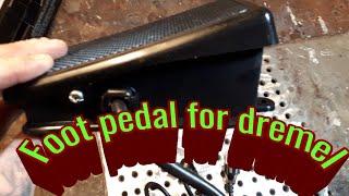 FOOT PEDAL I ordered from Ebay that works with dremel, dremel, dremel flex shaft, kutzall, dremel,