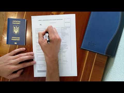 Процесс подачи документов на национальную визу «D»  Заполнение анкеты для визового центра