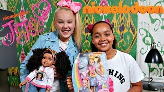KIDS REACT! Toys AndMe & JoJo Siwa Dolls Swap Surprise Presents!