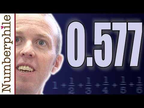 The mystery of 0.577 - Numberphile