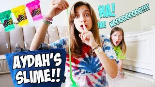 I STOLE MY SISTER'S SECRET SLIME STASH!!