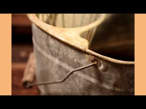 Vintage Galvanized Mop Wash Bucket