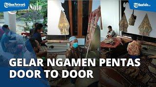 Efek Pandemi Covid-19, Para Dalang dari Solo Raya Ngamen Door to Door, Bergilir Menabuh Gamelan