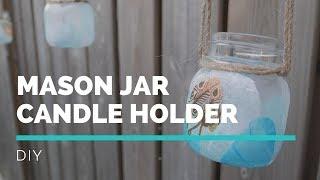 MODERN FARMHOUSE DECOR | DIY MASON JAR CANDLE HOLDER