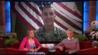 ellen show emotional skype millitary man(THE ELLEN SHOW-2013)