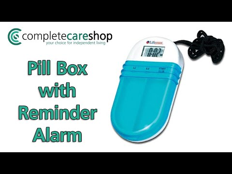 Pill Box With Reminder Alarm - Audible And Visual Alarms