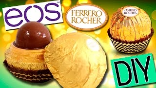 EOS Ferrero Rocher Labial * Manualidades EOS Lip Balm