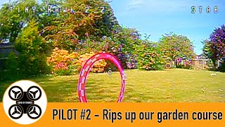 Game of Drones - Pilot #2 FPV and Tinyhawk 2 rips up our garden course